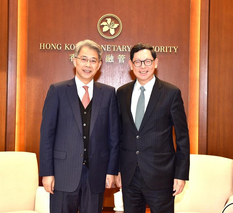 李晓鹏董事长拜会香港金管局总裁陈德霖